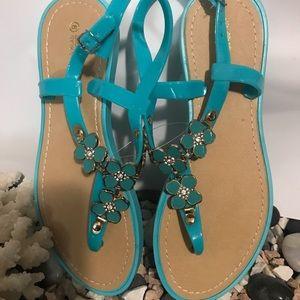 Elegant Comfortable Turquoise Sandals brand new